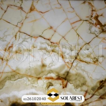 مرمر سفید رگه طلایی